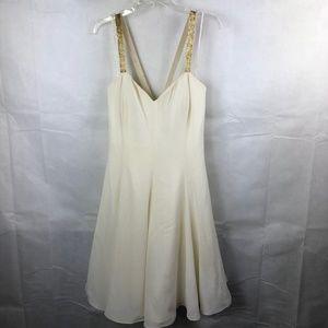 Vintage Jessica Howard Ivory Dress Size 14